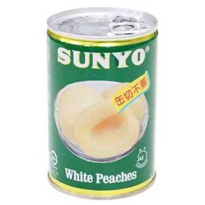 【N】国産白桃シラップ漬け 2つ割り 425g