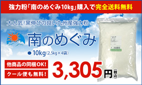 送料無料強力粉南のめぐみ10kg